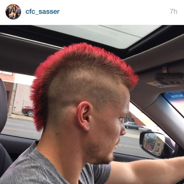 Ger's hair is #firedup for the NPGL San Francisco Fire's season.
