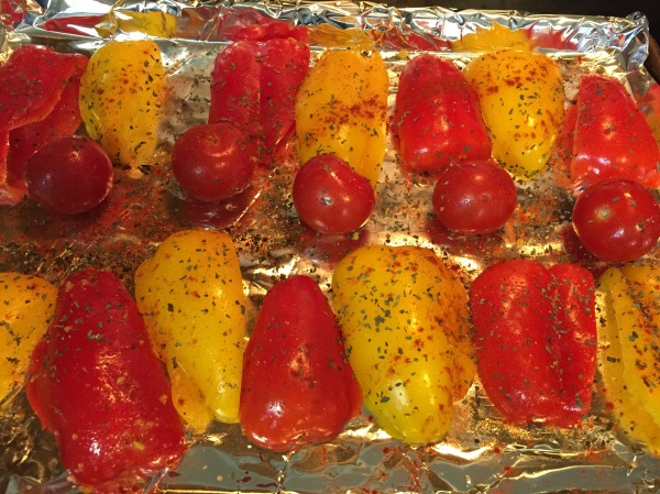 Roasted Red Peppers and Tomato take hardly any time at all to prepare.